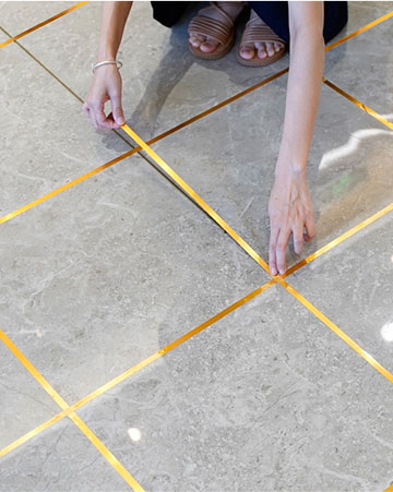 What is the standard size of ceramic tiles?